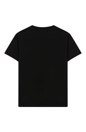 Детская хлопковая футболка NATASHA ZINKO черного цвета, арт. SS20MNZ508 -01/10-14 | Фото 2
