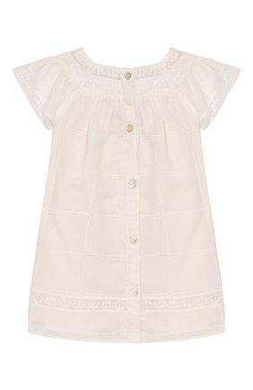 Женский хлопковое платье TARTINE ET CHOCOLAT бежевого цвета, арт. TQ30031/1M-1A | Фото 1