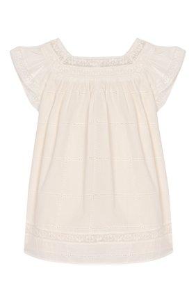 Женский хлопковое платье TARTINE ET CHOCOLAT бежевого цвета, арт. TQ30031/1M-1A | Фото 2