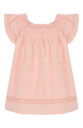 Женский хлопковое платье TARTINE ET CHOCOLAT светло-розового цвета, арт. TQ30031/1M-1A | Фото 1