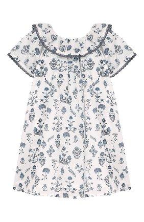Женский хлопковое платье TARTINE ET CHOCOLAT белого цвета, арт. TQ30041/1M-1A | Фото 1