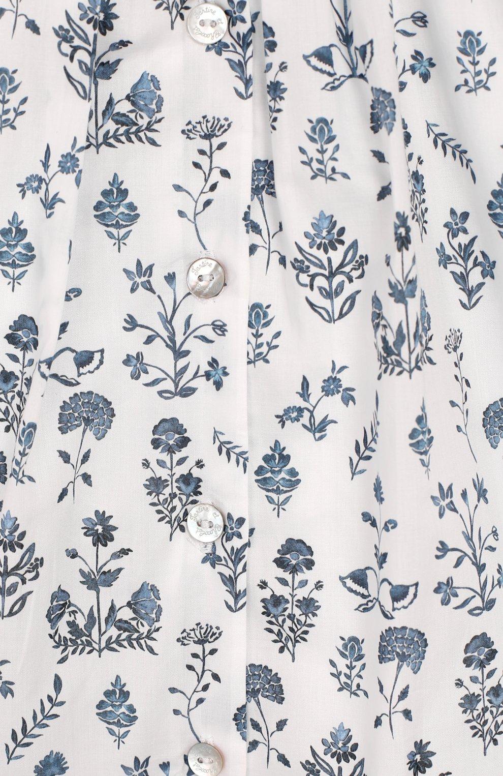 Женский хлопковое платье TARTINE ET CHOCOLAT белого цвета, арт. TQ30041/1M-1A   Фото 3 (Рукава: Короткие; Материал внешний: Хлопок; Материал подклада: Хлопок; Ростовка одежда: 9 мес   74 см)