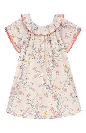 Женский хлопковое платье TARTINE ET CHOCOLAT бежевого цвета, арт. TQ30041/1M-1A | Фото 1