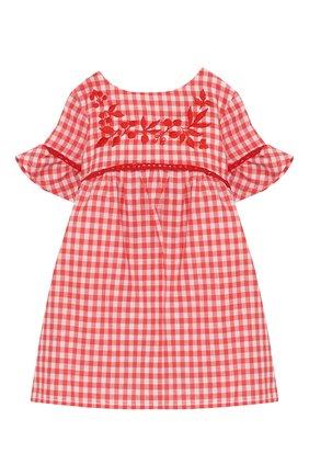Женский хлопковое платье TARTINE ET CHOCOLAT кораллового цвета, арт. TQ30061/1M-1A | Фото 1
