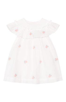 Женский хлопковое платье TARTINE ET CHOCOLAT белого цвета, арт. TQ30161/1M-1A | Фото 1