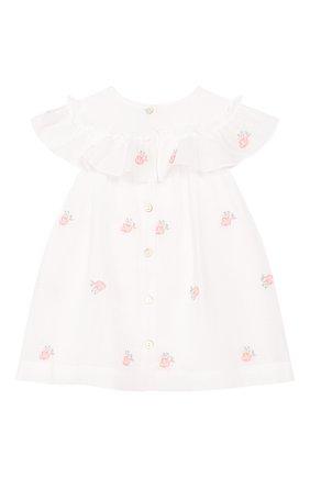Женский хлопковое платье TARTINE ET CHOCOLAT белого цвета, арт. TQ30161/1M-1A | Фото 2