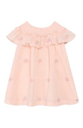 Женский хлопковое платье TARTINE ET CHOCOLAT розового цвета, арт. TQ30161/1M-1A | Фото 1