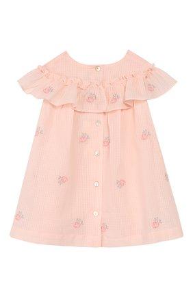 Женский хлопковое платье TARTINE ET CHOCOLAT розового цвета, арт. TQ30161/1M-1A | Фото 2