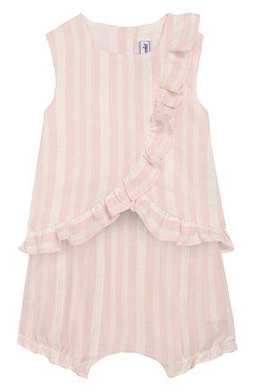 Детский комплект из топа и шорт TARTINE ET CHOCOLAT розового цвета, арт. TQ37031/1M-1A | Фото 1