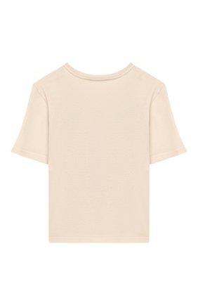 Детская хлопковая футболка DOLCE & GABBANA бежевого цвета, арт. L5JTCG/G7WQU/2-6 | Фото 2