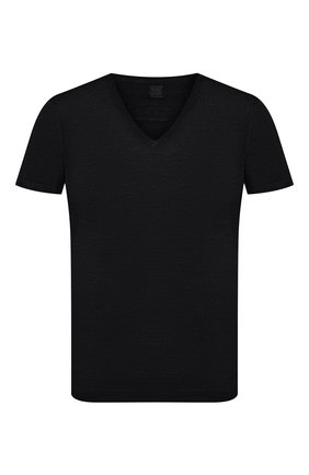 Мужская льняная футболка 120% LINO черного цвета, арт. R0M7915/E908/S00 | Фото 1
