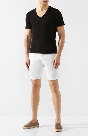 Мужская льняная футболка 120% LINO черного цвета, арт. R0M7915/E908/S00 | Фото 2