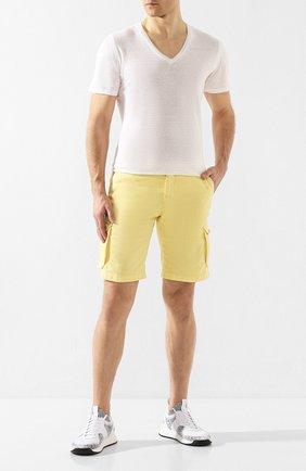 Мужская льняная футболка 120% LINO белого цвета, арт. R0M7915/E908/S00 | Фото 2