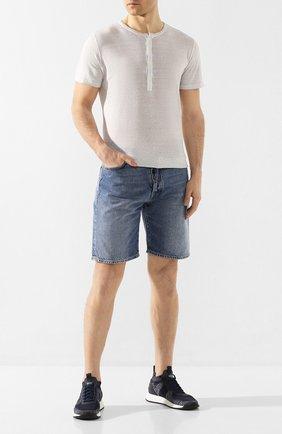 Мужская льняная футболка 120% LINO светло-серого цвета, арт. R0M7672/E908/S00 | Фото 2