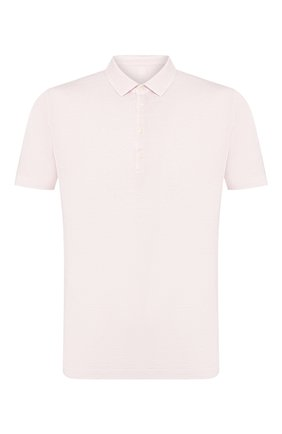 Мужское льняное поло 120% LINO светло-розового цвета, арт. R0M7282/E908/S00 | Фото 1