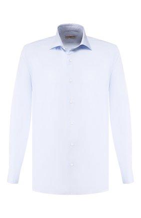 Мужская хлопковая сорочка LUCIANO BARBERA голубого цвета, арт. 105469/72339 | Фото 1