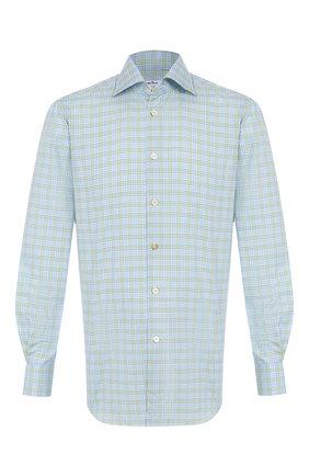 Мужская хлопковая сорочка KITON голубого цвета, арт. UCIH0730443   Фото 1