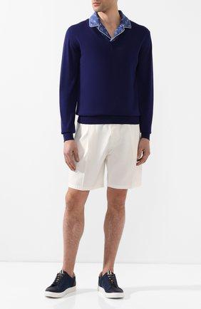 Мужской кашемировый пуловер DOLCE & GABBANA синего цвета, арт. GX972T/JAMX2 | Фото 2