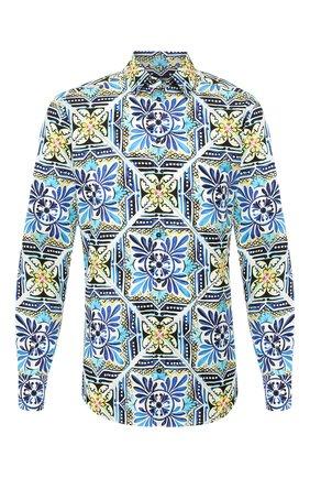 Мужская хлопковая рубашка DOLCE & GABBANA разноцветного цвета, арт. G5EJ0T/HS5HB | Фото 1