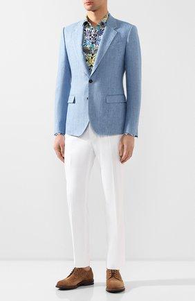 Мужская хлопковая рубашка DOLCE & GABBANA разноцветного цвета, арт. G5EJ0T/HS5HB | Фото 2