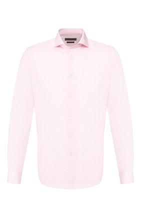 Мужская хлопковая сорочка CORNELIANI розового цвета, арт. 85P002-0111408/00 | Фото 1