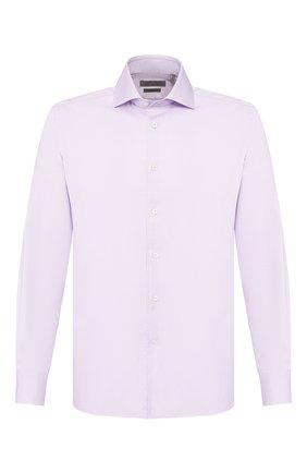 Мужская хлопковая сорочка CORNELIANI сиреневого цвета, арт. 85P100-0111264/00 | Фото 1