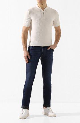 Мужские джинсы JACOB COHEN темно-синего цвета, арт. J688 C0MF 01843-W1/53 | Фото 2