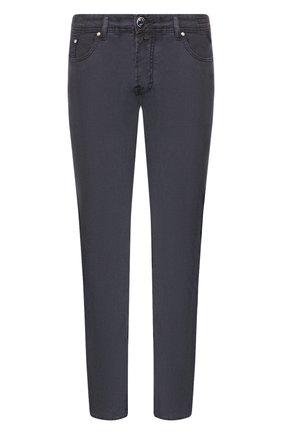 Мужские джинсы JACOB COHEN темно-синего цвета, арт. J688 C0MF 01830-V/53 | Фото 1