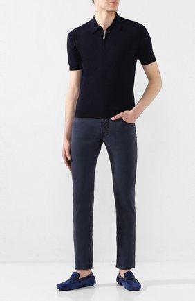 Мужские джинсы JACOB COHEN темно-синего цвета, арт. J688 C0MF 01830-V/53 | Фото 2
