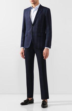 Мужской шерстяные брюки BERWICH темно-синего цвета, арт. SC/1 ALC/VB6954 | Фото 2
