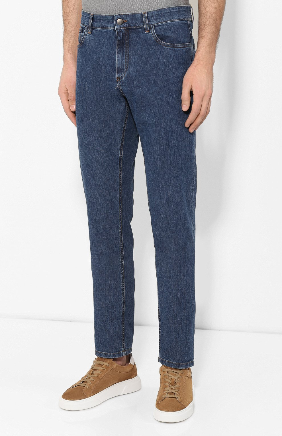 Мужские джинсы CANALI синего цвета, арт. 91755R/PD00464 | Фото 3