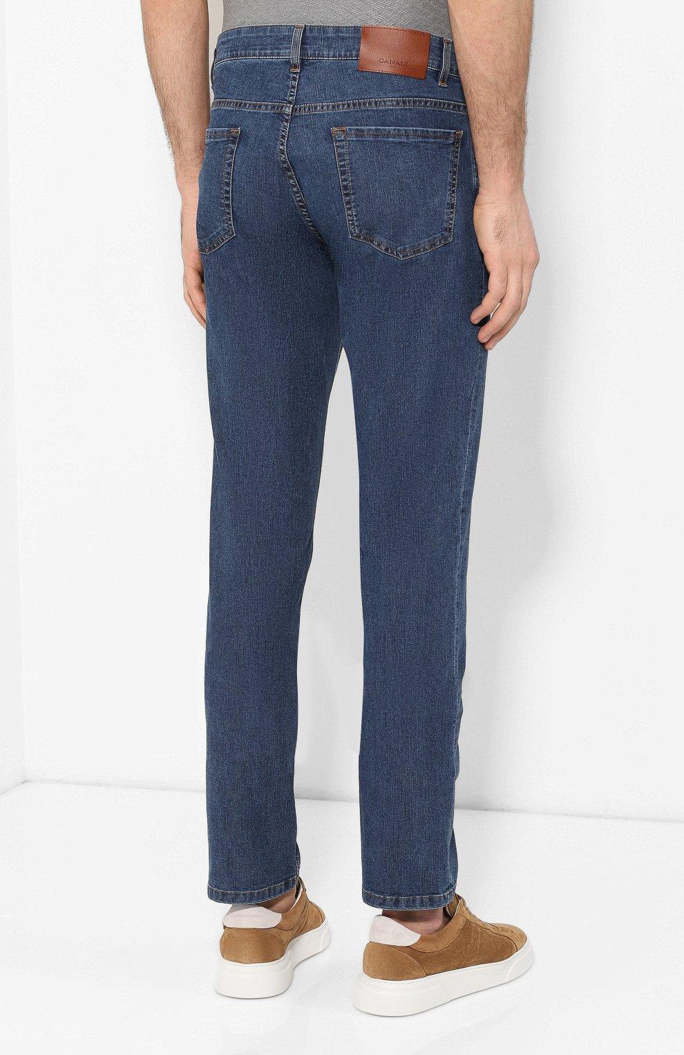 Мужские джинсы CANALI синего цвета, арт. 91755R/PD00464 | Фото 4