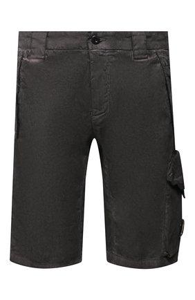 Мужские хлопковые шорты C.P. COMPANY темно-серого цвета, арт. 08CMBE241A-005694S | Фото 1