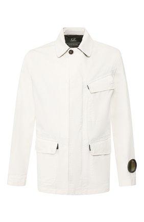 Мужская хлопковая куртка C.P. COMPANY белого цвета, арт. 08CM0W196A-005696W | Фото 1
