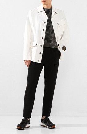 Мужская хлопковая куртка C.P. COMPANY белого цвета, арт. 08CM0W196A-005696W | Фото 2