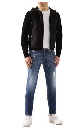Мужская комбинированный кардиган MONCLER черного цвета, арт. F1-091-9B701-00-V9115 | Фото 2