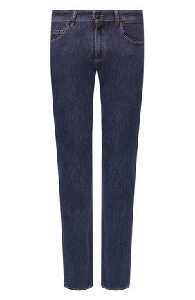 Мужские джинсы LUCIANO BARBERA синего цвета, арт. 114813/46097 | Фото 1
