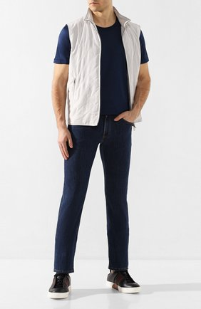 Мужские джинсы LUCIANO BARBERA синего цвета, арт. 114813/46097 | Фото 2