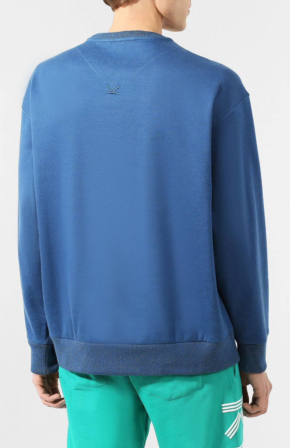Мужской хлопковый свитшот KENZO темно-синего цвета, арт. FA55SW5014DD | Фото 4