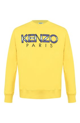 Мужской хлопковый свитшот KENZO желтого цвета, арт. FA55SW0004MD | Фото 1
