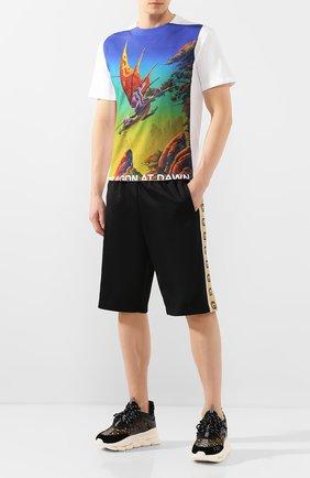 Мужская хлопковая футболка VALENTINO разноцветного цвета, арт. TV0MG06L691 | Фото 2