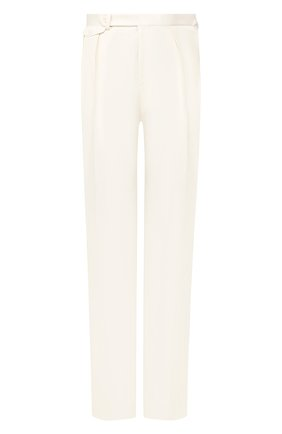 Мужские шелковые брюки RALPH LAUREN белого цвета, арт. 798794572 | Фото 1