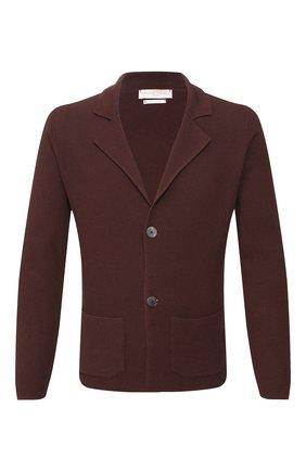 Мужской хлопковый пиджак DANIELE FIESOLI коричневого цвета, арт. DF 0062 | Фото 1