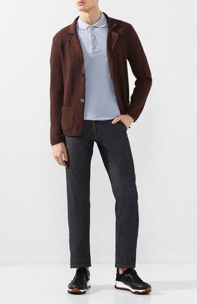 Мужской хлопковый пиджак DANIELE FIESOLI коричневого цвета, арт. DF 0062 | Фото 2