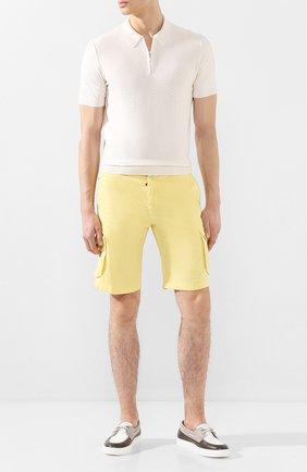 Мужское шелковое поло GRAN SASSO белого цвета, арт. 43135/23505 | Фото 2