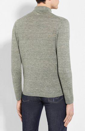 Мужская льняная рубашка ANDREA CAMPAGNA зеленого цвета, арт. 57103/24806 | Фото 4
