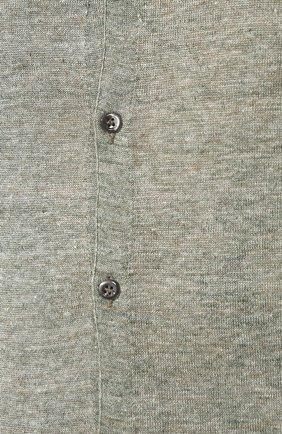 Мужская льняная рубашка ANDREA CAMPAGNA зеленого цвета, арт. 57103/24806 | Фото 5