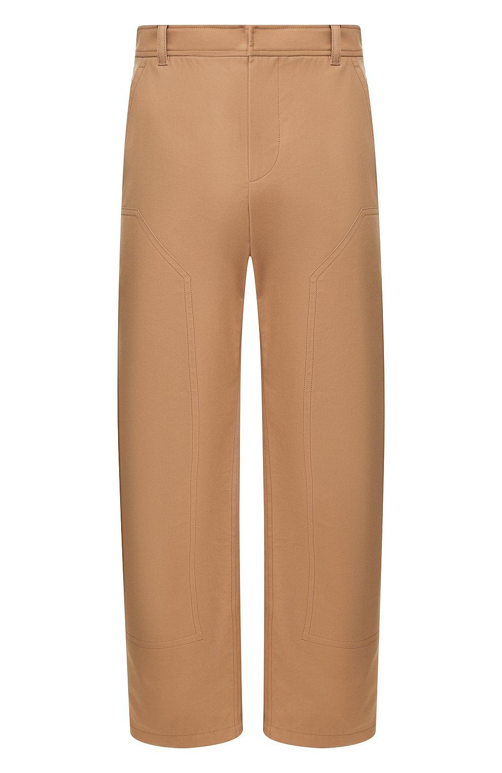 Мужские хлопковые брюки BURBERRY коричневого цвета, арт. 4563534 | Фото 1