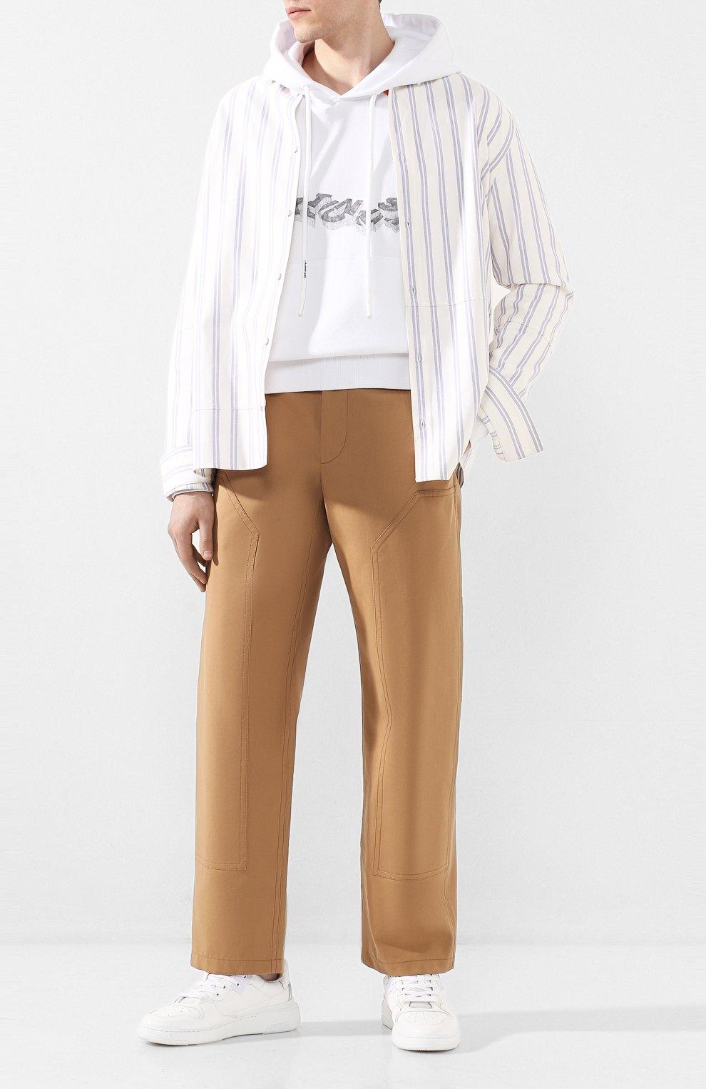 Мужские хлопковые брюки BURBERRY коричневого цвета, арт. 4563534 | Фото 2