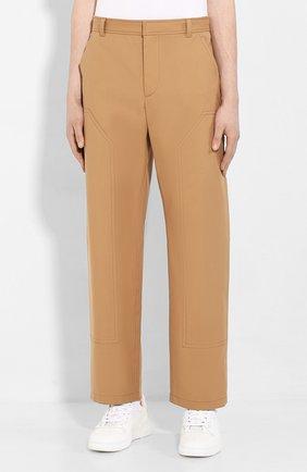 Мужские хлопковые брюки BURBERRY коричневого цвета, арт. 4563534 | Фото 3